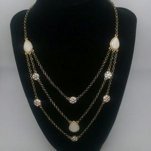Jewelry - Gold-Tone Mother of Pearl Statement Necklace